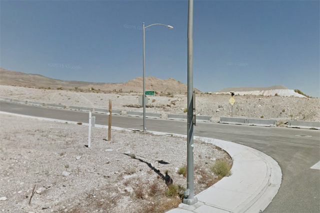 Cliff Shadows Parkway and Lone Mountain Road (Google Street View)