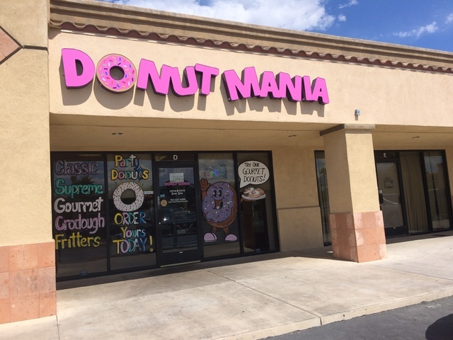 The exterior of Donut Mania's southwest Las Vegas location is seen at 4460 S. Durango Drive. The family hopes to open two more locations in the Summerlin or northwest valley. Jan Hogan/View