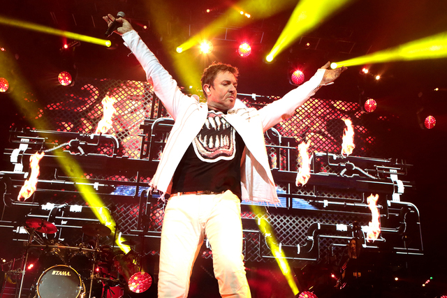 """Simon Le Bon of the band Duran Duran performs in concert during their """"Paper Gods Tour"""" at BB&T Pavilion on Thursday, July 21, 2016, in Camden, N.J. (Photo by Owen Sweeney/Invision/Associa ..."""