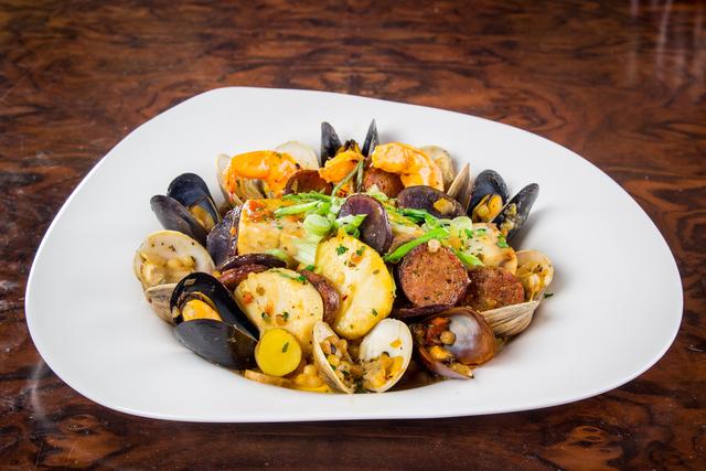 Sardinian-style fregola seafood paella-style (Palms)