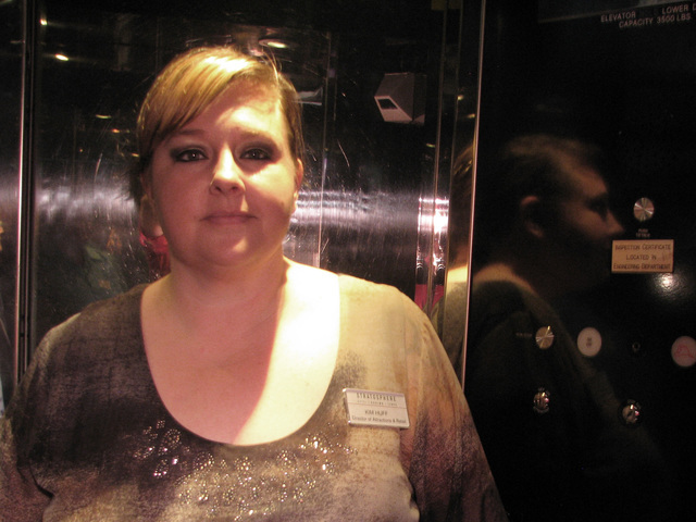 Kimberly Huff began working as an elevator operator on the first day the Stratosphere tower was open. She has stayed there for 20 years and is now the director of the attractions and retail divisi ...