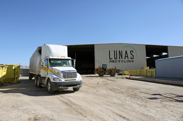 Lunas Recycling is shown Monday, July 18, 2016, in Las Vegas. The family-owned waste management facility is located at 4830 E. Cartier Ave. (Ronda Churchill/Las Vegas Review-Journal)