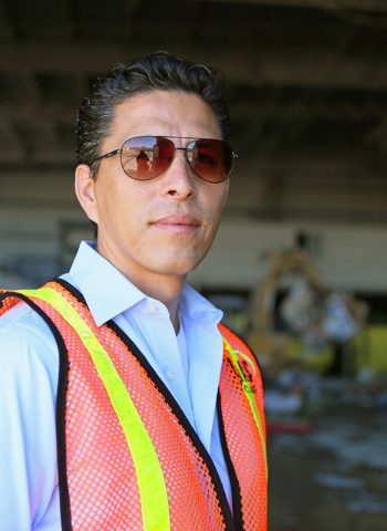 Norberto Madrigal, co-owner of Lunas Recycling, stands in the materials recovering facility at Lunas Recycling Monday, July 18, 2016, in Las Vegas. The family-owned waste management facility is lo ...