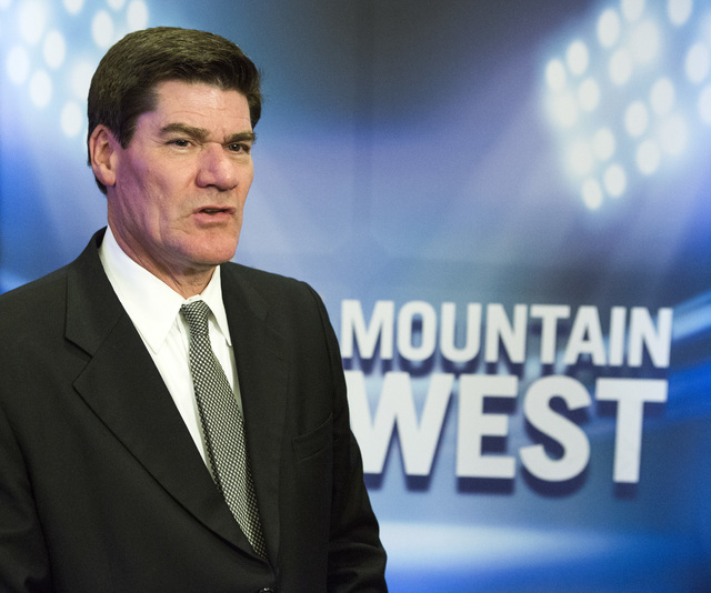 Mountain West commissioner Craig Thompson stands during the Mountain West Football Media Day Tuesday, July 26, 2016, at Cosmopolitan of Las Vegas. Jeff Scheid/Las Vegas Review-Journal Follow @jeff ...