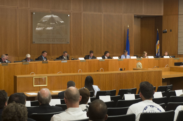 The House Committee on Natural Resources gathers to hold a special hearing addressing changes in the management of federal land at North Las Vegas City Hall on Tuesday, July 26, 2016, in North Las ...
