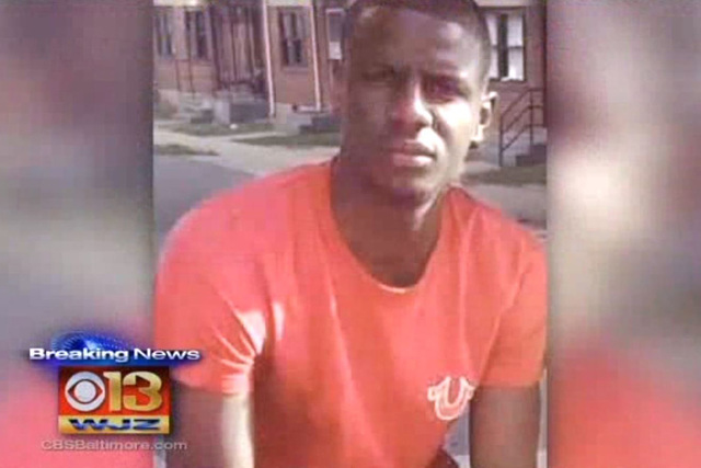 Freddie Gray, a 27-year-old black man, was arrested by white Baltimore officers on April 12, 2015, and died days later after slipping into a coma. (Screengrab/CBS Baltimore/NDN)