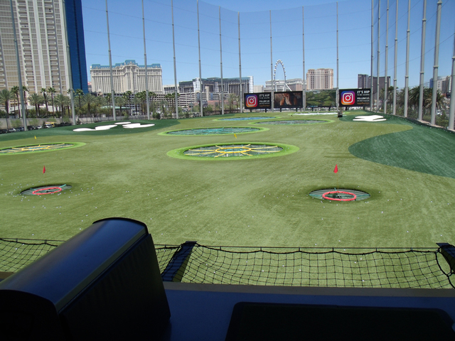 The circular targets are a unique feature at Topgolf, 4627 Koval Lane. John Asay/Special to View