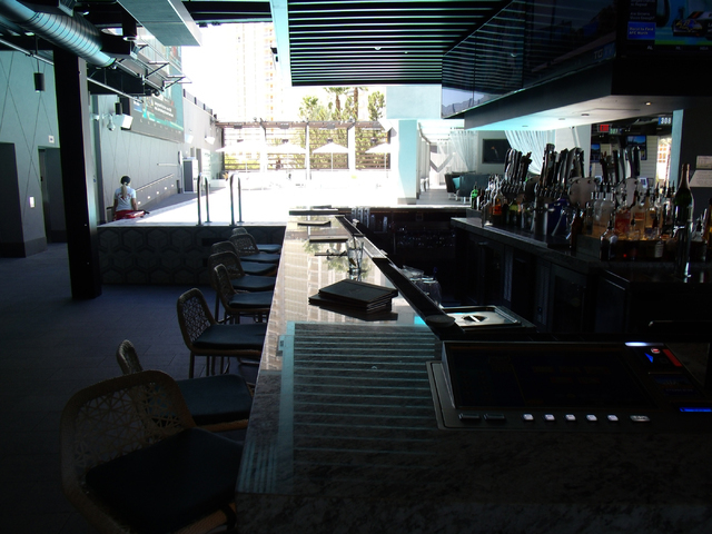 Open-air bars are another feature at Topgolf, 4627 Koval Lane. John Asay/Special to View