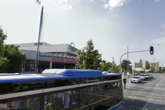 Olympia Einkaufszentrum shopping center in Germany (Google Street View)