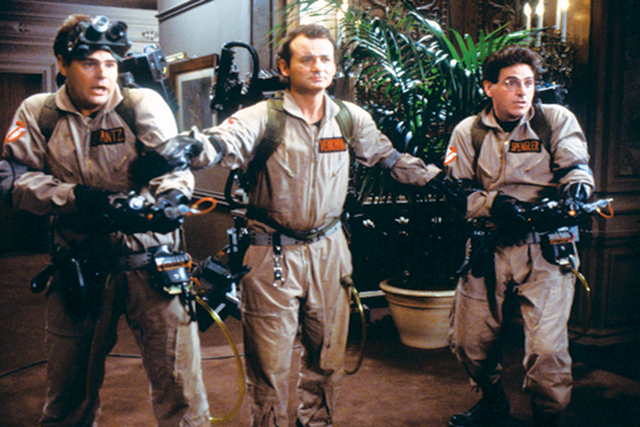 """Dan Aykroyd, left, starred with Bill Murray and Harold Ramis in """"Ghostbusters."""" The actor has an interest in the paranormal. (Courtesy)"""