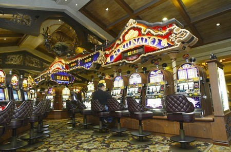 Slots at a Station Casinos property. (Las Vegas Review-Journal file photo)
