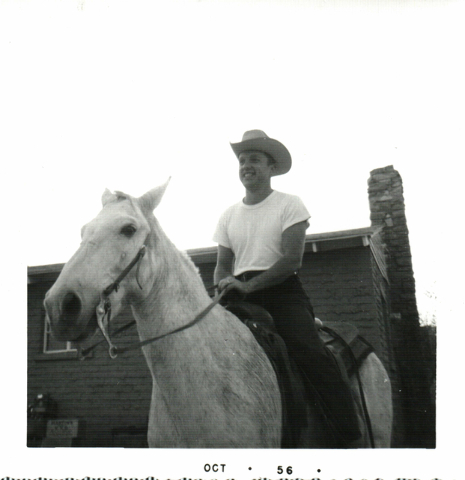 Harold Belanger is shown in this 1956 photo at Hidden Valley Ranch in Moapa Valley. Courtesy, Kenny Searles