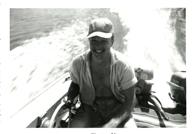 Harold Bellanger is shown at Lake Powell in this 1956 photo. Courtesy, Janiece Searles Bellanger