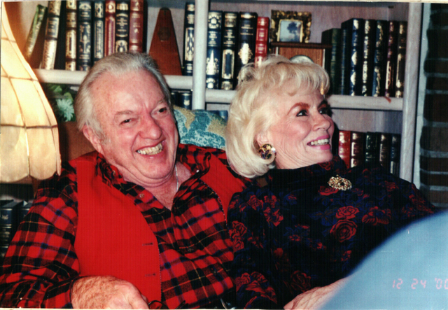 Harold Bellanger and his wife Janiece Searles Bellanger are shown at home in this 2003 photo. Courtesy, Elizabeth Boldt
