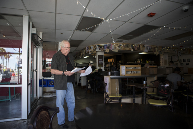 Performance poet Lee Mallory rehearses for an upcoming performance at The Beat Coffeehouse on Thursday, July 21, 2016, in Las Vegas. Erik Verduzco/Las Vegas Review-Journal Follow @Erik_Verduzco