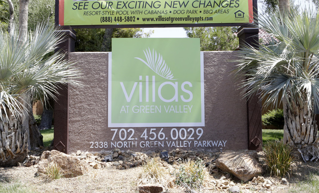 A man was shot as he attempted to burglarize an apartment at The Villas at Green Valley Apartments, 2338 N. Green Valley Parkway, near Warm Springs Road on Wednesday, July 27, 2016. Bizuayehu Tesf ...