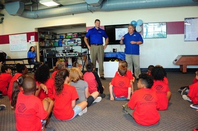 The Boys & Girls Clubs of Southern Nevada's Mary and Sam Boyd Clubhouse, 1608 Moser Drive in Henderson, unveiled a new gamesroom July 15 thanks to a $16,500 Triple Play grant from Amerigroup F ...