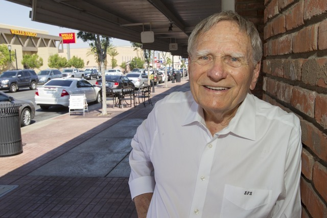 Lou LaPorta, founder of the Henderson Historical Society, poses outside the Elayne LaPorta Gallery of Fine Arts located at 121 Water Street in Henderson on Tuesday, July 26, 2016. Richard Brian/La ...