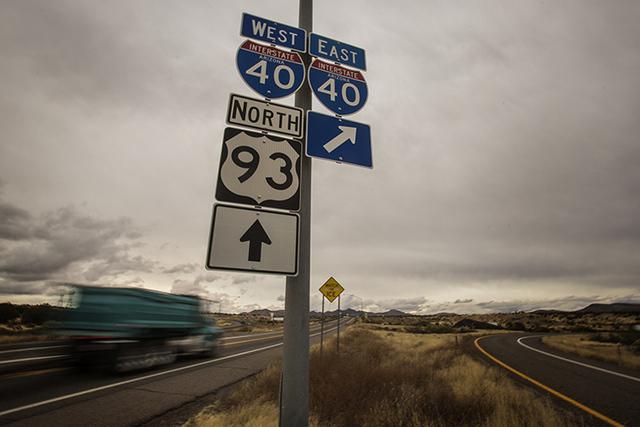 The junction of U.S. 93 and Interstate 40 near Kingman,Ariz. (Jeff Scheid/Las Vegas Review-Journal)