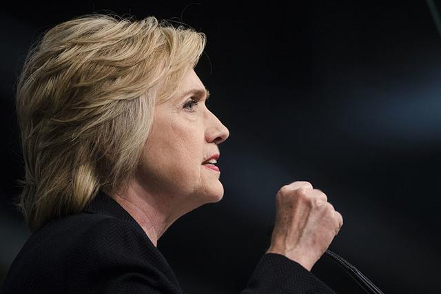 Hillary Clinton speaks in Philadelphia on Friday. (Matt Rourke/The Associated Press)