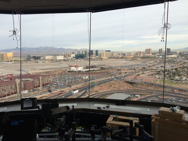 The Strip is seen from the new air traffic control tower at McCarran International Airport. Courtesy of the Federal Aviation Administration