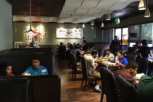 The interior of Mint Indian Bistro, 730 E. Flamingo Road, Suite 10, is seen June 3. (Sandy Lopez/View)