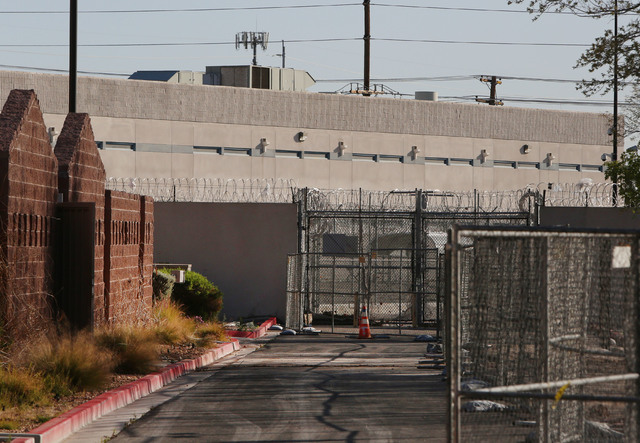 The old abandoned North Las Vegas Detention Center on 2332 North Las Vegas Blvd, is seen on Saturday, March 7, 2015.(Bizuayehu Tesfaye/Las Vegas Review-Journal)
