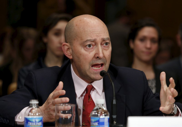 "Retired Navy Adm. James Stavridis, former NATO Supreme Allied Commander, testifies before a Senate Appropriations State, Foreign Operations and Related Programs Subcommittee hearing on ""D ..."