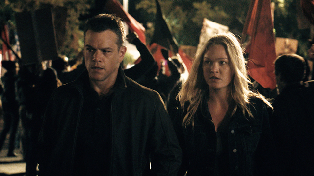 "Matt Damon returns to his most iconic role in ""Jason Bourne,"" while Julia Stiles reprises her role as Nicky Parsons in the series. (Universal Pictures)"