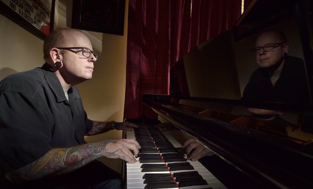 Jazz pianist Mike Jones is shown at his home in Las Vegas on Sunday, July 17, 2016. Bill Hughes/Las Vegas Review-Journal