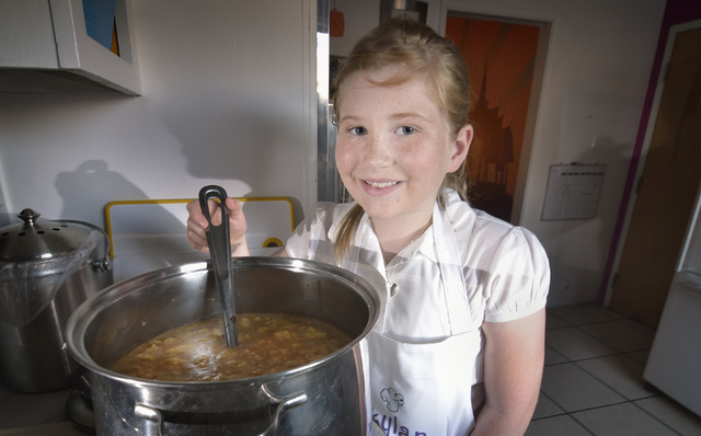 Skylar McGough is shown with her veggie-packed Indian lentil soup at her home in Las Vegas. Bill Hughes/Las Vegas Review-Journal