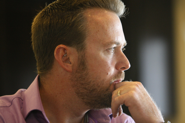 Jason Lamberth is interviewed about the wrongful death lawsuit his family is filing against the Clark County School District at his home in Henderson Tuesday, Oct. 21, 2014. The Lamberths claim th ...