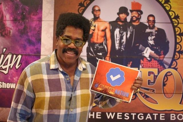Cameo frontman Larry Blackmon at Westgate Las Vegas.