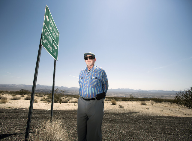 Jim Maniaci, president of the Laughlin Economic Development Corporation, stands at Needles Highway near State Route 163  in Laughlin, Nev. on Thursday, July 28, 2016. Jeff Scheid/Las Vegas Review- ...