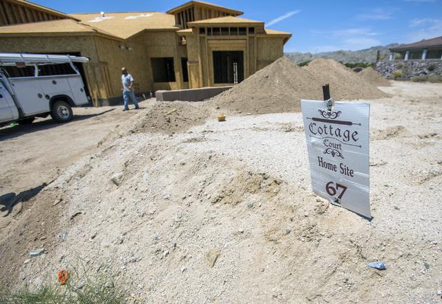 Construction is seen Thursday, July 28, 2016, on a custom home at Cottage Court development in Laughlin, Nev.Jeff Scheid/Las Vegas Review-Journal Follow @jeffscheid