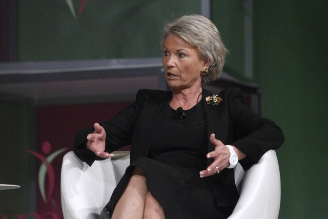 Pat Mulroy, former Southern Nevada Water Authority general manager, speaks during a panel discussion at the MGM Grand Conference Center. (Erik Verduzco/Las Vegas Review-Journal)