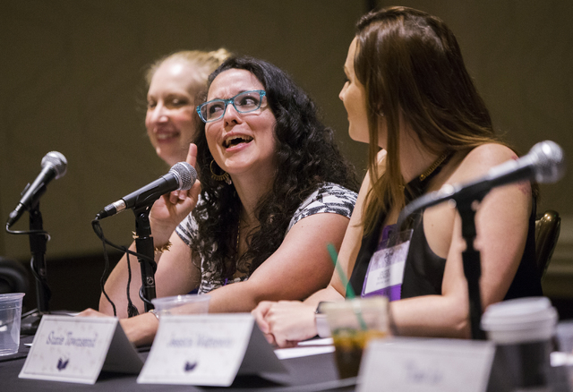 Joanna Volpe discusses the pitfalls of the publishing industry during LeviosaCon, a Harry Potter convention, on Friday, July 8, 2016, at Green Valley Ranch in Henderson. (Benjamin Hager/Las Vegas  ...