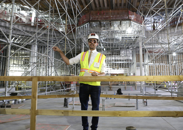 Lucky Dragon COO David Jacoby speaks during a tour the under-construction of Lucky Dragon hotel-casino at 300 W. Sahara Ave., on Thursday, July 7, 2016. Bizuayehu Tesfaye/Las Vegas Review-Journal  ...