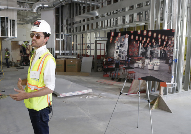 Lucky Dragon COO David Jacoby speaks to the media during a tour of the under-construction of Lucky Dragon hotel-casino at 300 W. Sahara Ave., on Thursday, July 7, 2016. Bizuayehu Tesfaye/Las Vegas ...