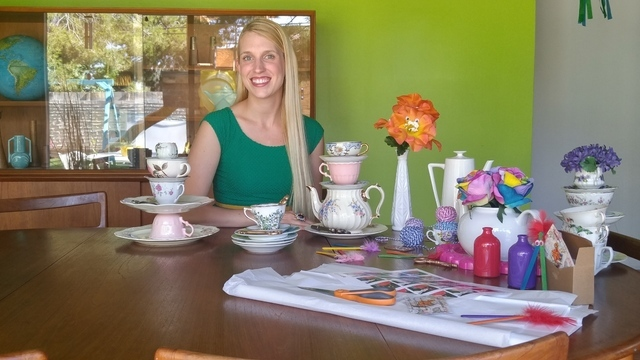 Las vegas business owner uses thrift store finds to craft for Las vegas craft shows