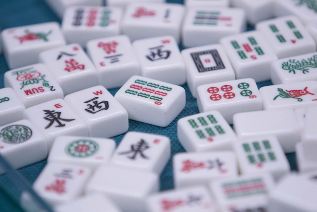 Mahjong tiles are seen on a table during the Mah Jongg World Championship at the Westgate Las Vegas hotel-casino in Las Vegas on Saturday, July 23, 2016. Richard Brian/Las Vegas Review-Journal Fol ...