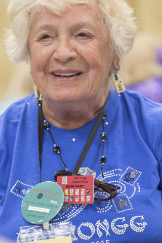 Ruth Hart of Englewood, Fla. looks on while competing during the Mah Jongg World Championship at the Westgate Las Vegas hotel-casino in Las Vegas on Saturday, July 23, 2016. Richard Brian/Las Vega ...