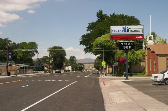 Panaca's Main Street is also Nevada Highway 319, which links U.S. Highway 93 with Cedar City, Utah. (Richard Velotta/Las Vegas Review-Journal)