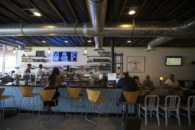 The Makers & Finders coffee shop is seen on Tuesday, July 5, 2016, in Las Vegas. (Erik Verduzco/Las Vegas Review-Journal) Follow @Erik_Verduzco