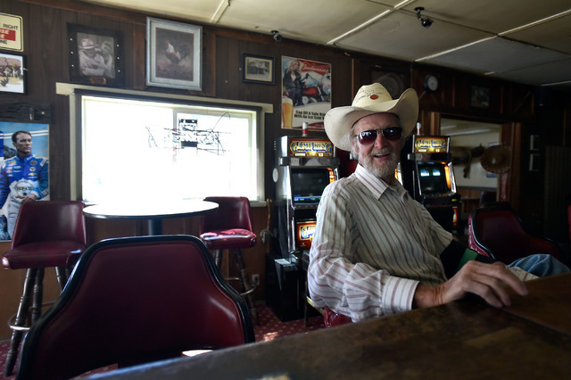 Regular customer Ted Shaffer sits at the Manhattan Bar Thursday, June 9, 2016, in Manhattan, Nev. The old-time bar has served its customers for decades in the high desert mountain mining community ...