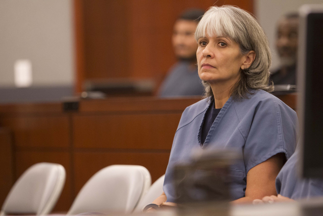 Jerry Nann Meador appears before District Judge Jessie Walsh at the Regional Justice Center in downtown Las Vegas on Monday, July 25, 2016. Richard Brian/Las Vegas Review-Journal Follow @vegasphot ...