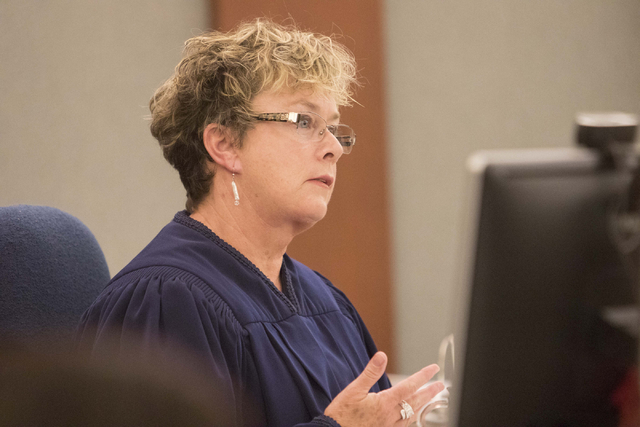 District Judge Jessie Walsh presides over the case of Jerry Nann Meador at the Regional Justice Center in downtown Las Vegas on Monday, July 25, 2016. Richard Brian/Las Vegas Review-Journal Follow ...