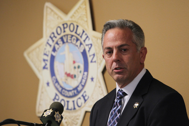 Sheriff Joe Lombardo speaks during Metro's commendation ceremony Wednesday, April 22, 2015. (Sam Morris/Las Vegas Review-Journal)