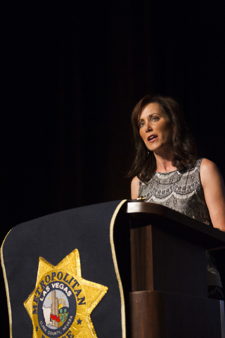 Former Las Vegas news anchor Nina Radetich hosts Metro's fourth annual Best of the Badge Gala held at Red Rock Resort Spa and Casino in the Summerlin area of Las Vegas on Friday, July 8, 2016.   ...