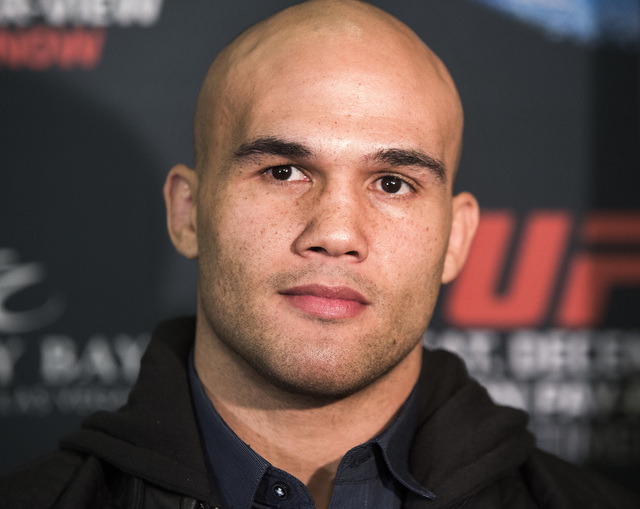 Robbie Lawler  during Media Day at the  MGM Grand on Thursday, Dec. 03, 2014. He will be fighting  Johny Hendricks in the UFC Welterweight title at the MGM on Saturday. (Jeff Scheid/Las Vegas Revi ...